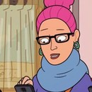 Thumb female hipster in corner gas animated